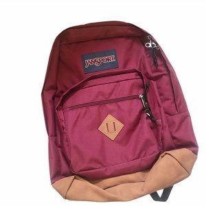 Jansport burgundy backpack holds laptop NWT